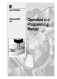 9/Series CNC Mill Operation and Programming Manual