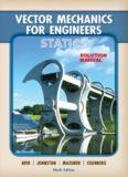 Solutions Manual: Vector Mechanics for Engineers: Statics
