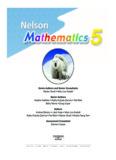 Nelson Mathematics 5 ISBN13