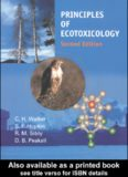 Principles of Ecotoxicology, 2nd Edition