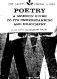 Poetry: A modern guide to its understanding and enjoyment (The Laurel poetry series)