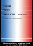 Thinking French Transalation: A Course in Translation Method