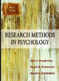 John J Shaughnessy Eugene B Zechmeister Jeanne S Zechmeister Research methods in ...