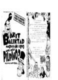 Bakit Baliktad Magbasa ng Libro ang mga Pilipino?: Mga Kuwentong Barbero