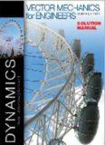 Vector Mechanics for Engineers: Dynamics - Solution Manual