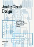 Analog Circuit Design: Operational Amplifiers, Analog to Digital Convertors, Analog Computer Aided