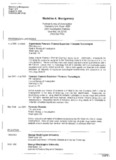 Page 1 Madeline A. Montgomery Page 1 of 5 August 19, 2009 CURRICULUM VITAE Madeline A ...