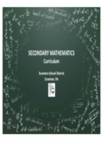 Secondary Mathematics Curriculum