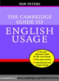 The Cambridge Guide to English Usage - CommissionedWriting
