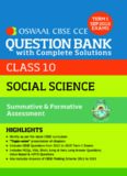 CBSE CCE Social Science Question Bank With Complete Solutions For Class 10 Term I (April to Sept