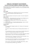 2012 Faculty Publications 2011 Faculty Publications - Indiana