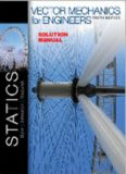 Vector Mechanics for Engineers: STATICS - Instructor Solutions Manual