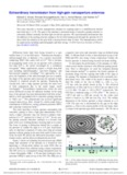 Extraordinary transmission from high-gain nanoaperture antennas