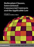 Boilerplate Clauses, International Commercial Contracts and the Applicable Law: Common Law Contract