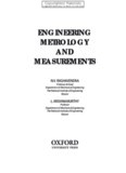 engineering metrology and measurements