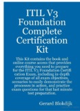 Download ITIL V3 Foundation Complete Certification Kit - Study