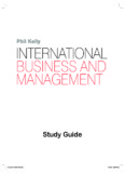 Phil Kelly INTERNATIONAL BUSINESS AND MANAGEMENT