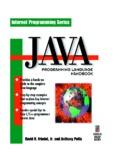 Java Programming Language Handbook