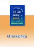 DBT Skills Training Teaching Guide