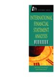 International Financial Statement Analysis Workbook (CFA