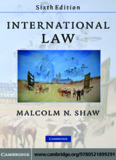 INTERNATIONAL LAW, Sixth edition