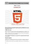 Download HTML5 Tutorial (PDF Version) - Tutorials Point
