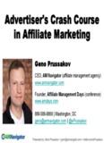 Advertiser's Crash Course in Affiliate Marketing