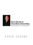 How to Become an Extraordinary Human Being - Robin Sharma