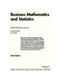 Business Mathematics and Statistics, Sixth Edition_Introduction to