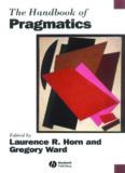 The Handbook of Pragmatics