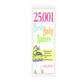 25001 Best Baby Names