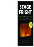 Stage Fright: 40 Stars Tell You How They Beat America's #1 Fear