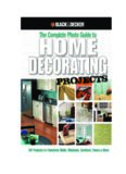 Black & Decker The Complete Photo Guide to Home Decorating Projects  DIY Projects to Transform
