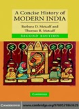 A Concise History of Modern India, SECOND EDITION