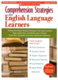 Comprehension Strategies for English Language Learners: 30 Research-Based Reading Strategies