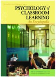 Psychology of Classroom Learning: An Encyclopedia (Psychology of Classroom Learning)