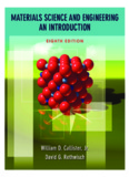 Materials Science and Engineering: An Introduction, Eighth Edition