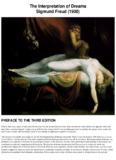 The Interpretation of Dreams Sigmund Freud (1900)