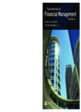 Fundamentals of Financial Management (Van Horne 13th edition)
