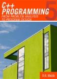 C++ Programming From Problem Analysis to Program Design 5th