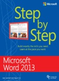 Microsoft Word 2013 Step by Step ebook