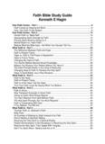 Faith Bible Study Guide by Kenneth E Hagin