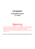 Warning - Corporate Finance - Ivo Welch